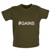#Gains (Hashtag) Baby T Shirt