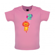 2nd Birthday Lion Baby T Shirt