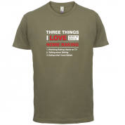Three Things I Love Nearly As Much As Baking T Shirt