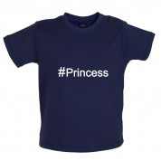 #Princess (Hashtag) Baby T Shirt