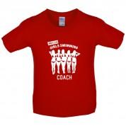Amateur Girls Swimming Coach Kids T Shirt
