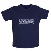 6 Out Of 7 dwarfs Are Not Happy Baby T Shirt