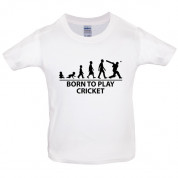 Born to play Cricket Kids T Shirt