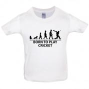 Born to play Cricket Kids T Shirt
