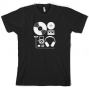 Evolution of Music Hardware T Shirt