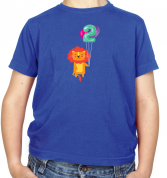 2nd Birthday Lion Kids T Shirt