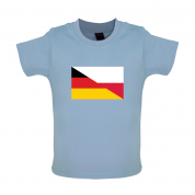 Half German Half Polish Flag Baby T Shirt