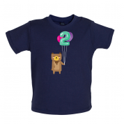 2nd Birthday Bear Baby T Shirt