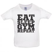 Eat Sleep Gym REPEAT Kids T Shirt