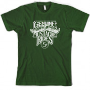 Genuine Moustache Rides T Shirt