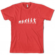 Evolution of Man Bass Guitar Player T Shirt