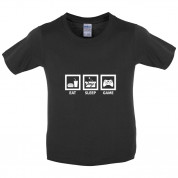 Eat Sleep Game Kids T Shirt