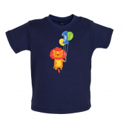 1st Birthday Lion Baby T Shirt