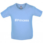 #Princess (Hashtag) Kids T Shirt