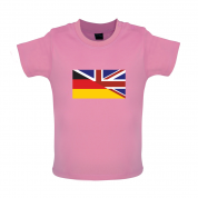 Half German Half British Flag Baby T Shirt