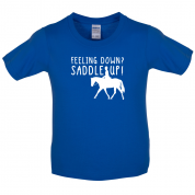Feeling Down Saddle Up Kids T Shirt