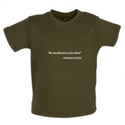 Be Excellent To Each Other - Abraham Lincoln Baby T Shirt