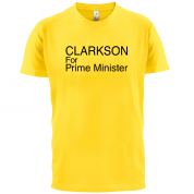 Clarkson For Prime Minister T Shirt