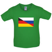 Half German Half Russian Flag Kids T Shirt