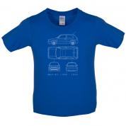 4 View Golf GTI MK2 Kids T Shirt