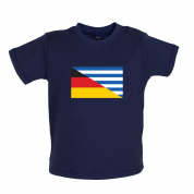 Half German Half Greek Flag Baby T Shirt