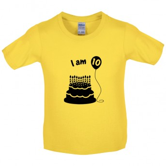 I Am 10 Kids Birthday T Shirt Image 1