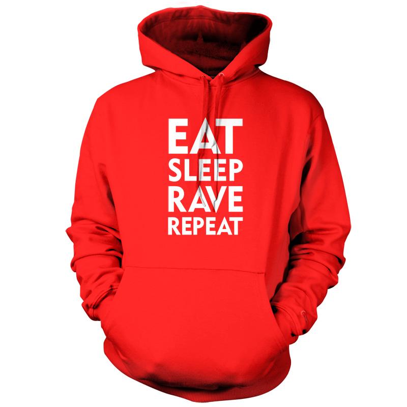 Eat Sleep Rave Repeat Hoodie Hoodies, Unisex hoodies
