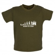 Born To Camp (Split Screen) Baby T Shirt