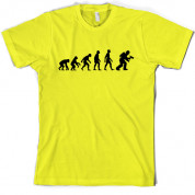 Evolution of Man Firefighter T Shirt