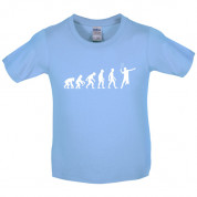 Evolution of Man Badminton Kids T Shirt