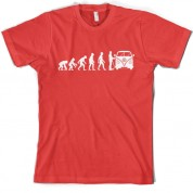 Evolution of Man Split Screen Camper T Shirt