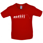 Evolution of Man Fishing Kids T Shirt