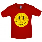 Smiley Rave Face Kids T Shirt