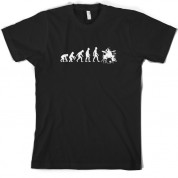Evolution of Man Drummer T shirt