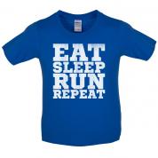 Eat Sleep Run REPEAT Kids T Shirt