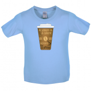 A Yawn is a Silent scream for Coffee Kids T Shirt