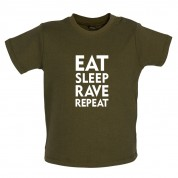 Eat Sleep Rave Repeat Baby T Shirt