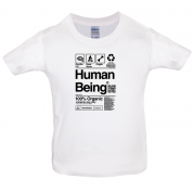 100% Organic Human Being Kids T Shirt