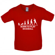 Born to play Baseball Kids T Shirt