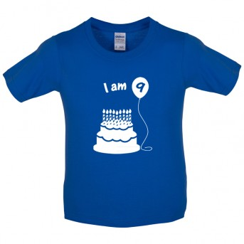 I Am 9 Kids Birthday T Shirt Image 1