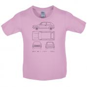 4 View Golf MK1  Kids T Shirt
