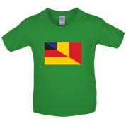Half German Half Romanian Flag Kids T Shirt