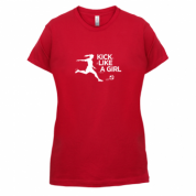 kick like a girl t-shirt