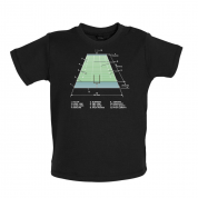 American Football Field Diagram Baby T Shirt