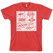 Biff Pow Bam Comic book T Shirt