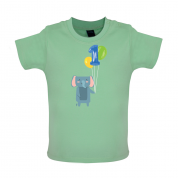 1st Birthday Elephant Baby T Shirt