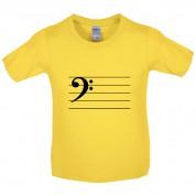 Bass Cleff Kids T Shirt