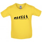 Evolution of Man Baseball Kids T Shirt