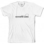Weapon Of Choice Badminton T Shirt