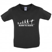 Born to Ice Skate Kids T Shirt